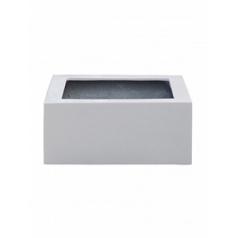 Кашпо Pottery Pots Fiberstone glossy white, белого цвета low block Длина — 45 см