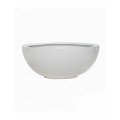 Кашпо Pottery Pots Fiberstone glossy white, белого цвета maud M размер  Диаметр — 50 см