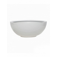 Кашпо Pottery Pots Fiberstone glossy white, белого цвета maud S размер  Диаметр — 40 см