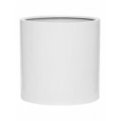 Кашпо Pottery Pots Fiberstone glossy white, белого цвета max L размер  Диаметр — 50 см