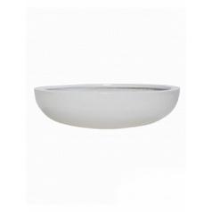 Кашпо Pottery Pots Fiberstone glossy white, белого цвета monique L размер  Диаметр — 43 см