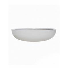 Кашпо Pottery Pots Fiberstone glossy white, белого цвета monique M размер  Диаметр — 34 см