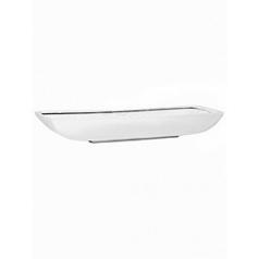 Кашпо Pottery Pots Fiberstone glossy white, белого цвета pandora M размер Длина — 64 см
