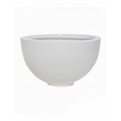 Кашпо Pottery Pots Fiberstone glossy white, белого цвета peter M размер  Диаметр — 30 см