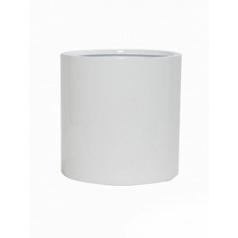 Кашпо Pottery Pots Fiberstone glossy white, белого цвета puk M размер  Диаметр — 20 см