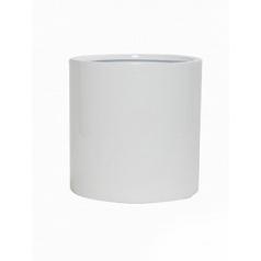 Кашпо Pottery Pots Fiberstone glossy white, белого цвета puk S размер  Диаметр — 15 см