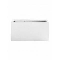 Кашпо Pottery Pots Fiberstone glossy white, белого цвета rectangular balcony XS размер Длина — 40 см