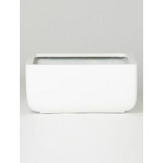 Кашпо Pottery Pots Fiberstone glossy white, белого цвета sphere Длина — 49 см