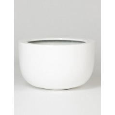 Кашпо Pottery Pots Fiberstone glossy white, белого цвета sunny  Диаметр — 45 см