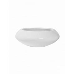 Кашпо Pottery Pots Fiberstone glossy white, белого цвета tara L размер  Диаметр — 80 см