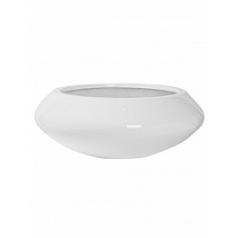 Кашпо Pottery Pots Fiberstone glossy white, белого цвета tara M размер  Диаметр — 60 см