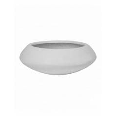 Кашпо Pottery Pots Fiberstone glossy white, белого цвета tara S размер  Диаметр — 40 см