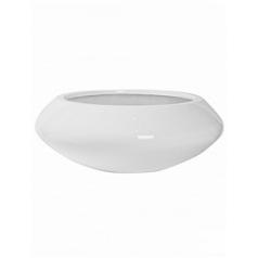 Кашпо Pottery Pots Fiberstone glossy white, белого цвета tara XL размер  Диаметр — 100 см