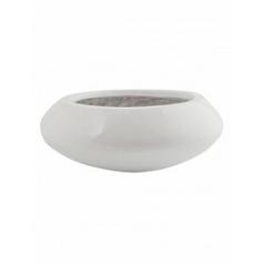 Кашпо Pottery Pots Fiberstone glossy white, белого цвета tara XS размер  Диаметр — 305 см