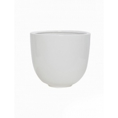 Кашпо Pottery Pots Fiberstone glossy white, белого цвета tim M размер  Диаметр — 35 см