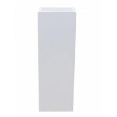 Кашпо Pottery Pots Fiberstone glossy white, белого цвета yang Длина — 35 см