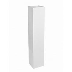 Кашпо Pottery Pots Fiberstone glossy white, белого цвета yenn M размер Длина — 25 см