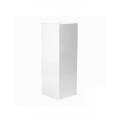 Кашпо Pottery Pots Fiberstone glossy white, белого цвета yung Длина — 60 см
