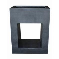 Кашпо Pottery Pots Fiberstone hole in one black, чёрного цвета Длина — 80 см