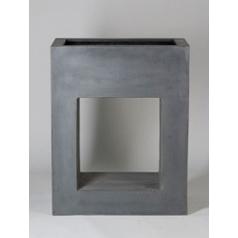 Кашпо Pottery Pots Fiberstone hole in one grey, серого цвета Длина — 80 см