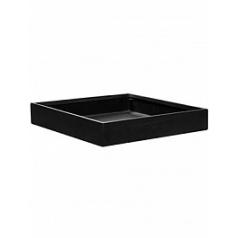 Кашпо Pottery Pots Fiberstone jack black, чёрного цвета L размер Длина — 60 см