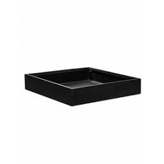 Кашпо Pottery Pots Fiberstone jack black, чёрного цвета M размер Длина — 50 см
