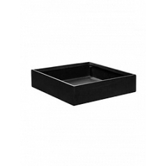 Кашпо Pottery Pots Fiberstone jack black, чёрного цвета XS размер Длина — 30 см