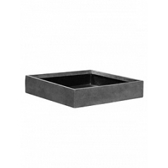 Кашпо Pottery Pots Fiberstone jack grey, серого цвета M размер Длина — 50 см