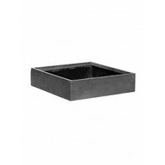 Кашпо Pottery Pots Fiberstone jack grey, серого цвета XS размер Длина — 30 см