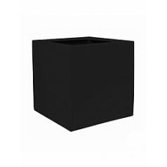 Кашпо Pottery Pots Fiberstone jan des bouvrie glossy black, чёрного цвета antibes Длина — 60 см