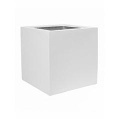 Кашпо Pottery Pots Fiberstone jan des bouvrie glossy white, белого цвета antibes Длина — 60 см