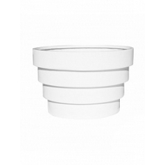 Кашпо Pottery Pots Fiberstone jan des bouvrie glossy white, белого цвета st tropez S размер  Диаметр — 26 см