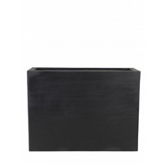 Кашпо Pottery Pots Fiberstone jort black, чёрного цвета L размер Длина — 95 см