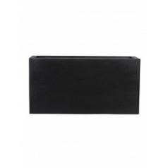 Кашпо Pottery Pots Fiberstone jort black, чёрного цвета S размер Длина — 80 см