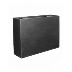 Кашпо Pottery Pots Fiberstone jort black, чёрного цвета slim Длина — 124 см