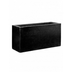 Кашпо Pottery Pots Fiberstone jort black, чёрного цвета XL размер Длина — 150 см