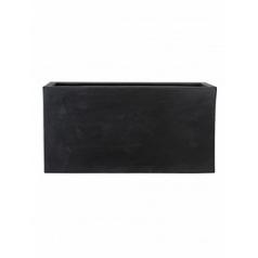 Кашпо Pottery Pots Fiberstone jort black, чёрного цвета Длина — 100 см