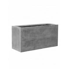 Кашпо Pottery Pots Fiberstone jort grey, серого цвета L размер Длина — 120 см