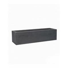 Кашпо Pottery Pots Fiberstone jort grey, серого цвета low S размер Длина — 100 см