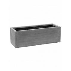 Кашпо Pottery Pots Fiberstone jort grey, серого цвета M размер Длина — 150 см
