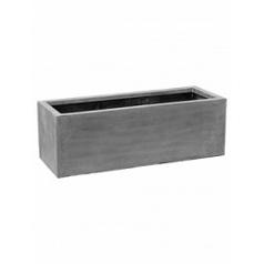 Кашпо Pottery Pots Fiberstone jort grey, серого цвета S размер Длина — 120 см