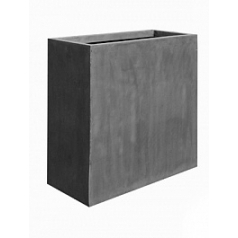 Кашпо Pottery Pots Fiberstone jort grey, серого цвета XL размер Длина — 100 см