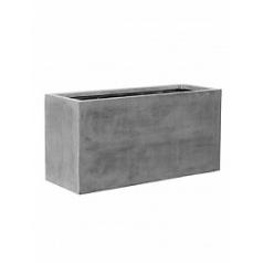 Кашпо Pottery Pots Fiberstone jort grey, серого цвета XL размер Длина — 150 см