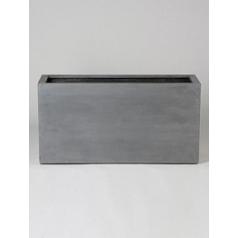 Кашпо Pottery Pots Fiberstone jort grey, серого цвета Длина — 100 см