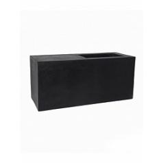 Кашпо Pottery Pots Fiberstone jort с лавкойing black, чёрного цвета S размер Длина — 100 см
