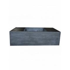 Кашпо Pottery Pots Fiberstone jort с лавкойing black, чёрного цвета XXL размер Длина — 150 см