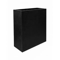 Кашпо Pottery Pots Fiberstone jort slim black, чёрного цвета XL размер Длина — 91 см