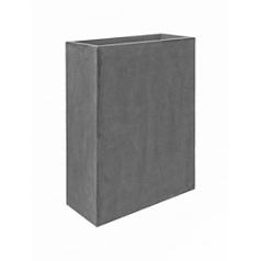 Кашпо Pottery Pots Fiberstone jort slim grey, серого цвета M размер Длина — 61 см