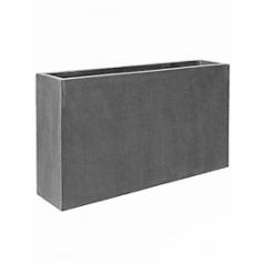 Кашпо Pottery Pots Fiberstone jort slim grey, серого цвета S размер Длина — 91 см