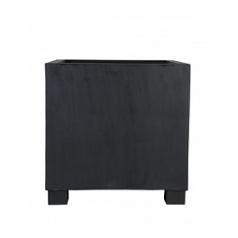 Кашпо Pottery Pots Fiberstone jumbo black, чёрного цвета L размер Длина — 90 см
